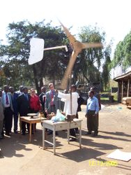 Our wind  turbine in action even at very low altitude above the ground