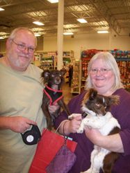 Harlow with his new family