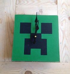 Minecraft theme clock.