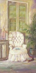 White Linen Chair
