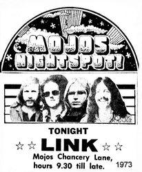 Link at Mojos Nightspot 1973