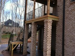deck and hand rails