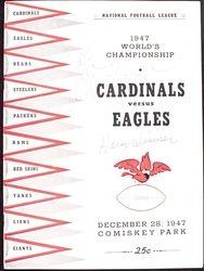 1947 Chicago Cardinals vs. Philadelphia Eagles