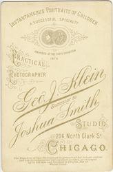 Geo. J. Klein, photographer of Chicago, IL - back