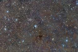 NGC 7129 Wide field