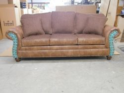 #530-69 Palance Chestnut/Homerun Brown - Cowboy panels