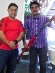 """Spring Steel Red Dragon Katana of Engr. Lawrence """"Law"""" B. Luistro"""