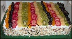 Fruit cake sheet cake