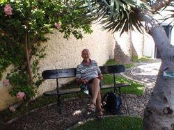 John relaxing in Christopher Columbus' garden (possibly......)