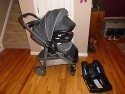 Graco Modes 3 Lite Platinum Travel System Car Seat, Stroller & Base - $210