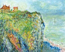 Interpretation of Cliff at Dieppe 1882 - France