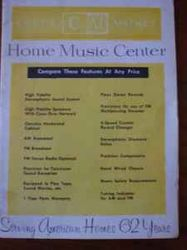 Sweet vintage CM entertainment center.