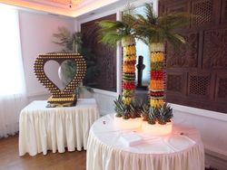 Wedding package birmingham Two foot foot fruit palm trees and a ferrero rocher heart by sweet candy dreads