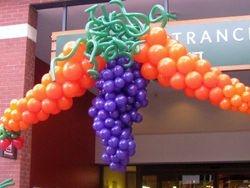 Carrots & Grapes Balloon Sculpture at Dawson's Market