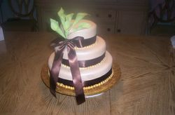 Green Calla/ivory cake