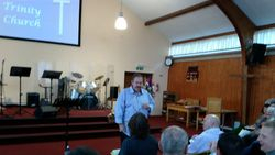 David Macdonald ministering to us