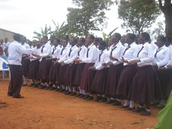 The Secondary School Choir performs
