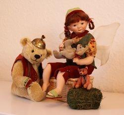 Puppe Mia und Bär Prince