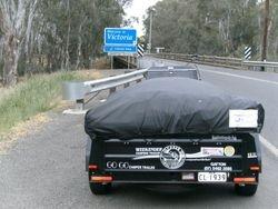 Trike & Camper at NSW/Vic Border - 10 Dec 2009