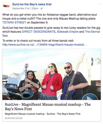 SunLive article for Mauao Mashup