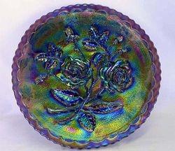 Open Rose plate, purple