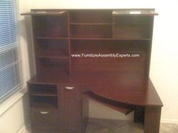 Sauder desk with hutch installation service in Mclean VA