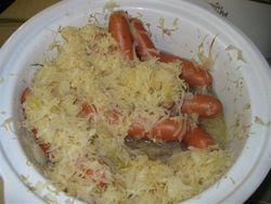 Vension Dogs and Sauerkraut