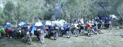 2008 BMW Touring Club of NSW line up of bikes: