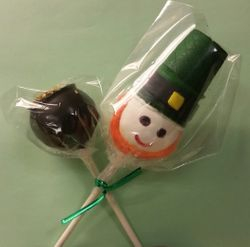Leprechaun and Pot of Gold cake Pops