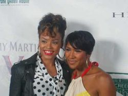 Demetria McKinney & Terri J. Vaughn At The 'Green Room 1 Year Anniversary'