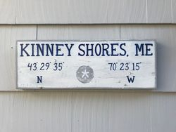 Kinney Shores, ME sign
