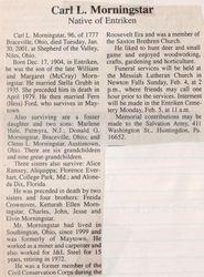 Morningstar, Carl L. 2001