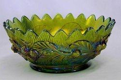 Acorn Burrs master berry bowl, green