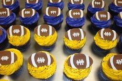 Fondant football cupcakes $3.25 each