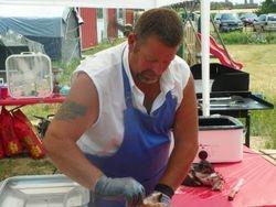 Our champion pork-puller Ed Davis