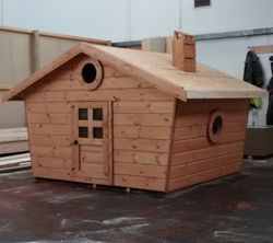 Fancy Wooden Playhouse (7' x 7')