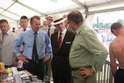 His Royal Highness the Duke of Edinburgh visiting the stand.