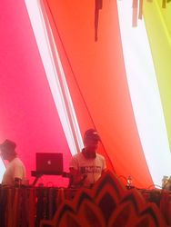 Danny at the decks at Camp Bestival 2015!