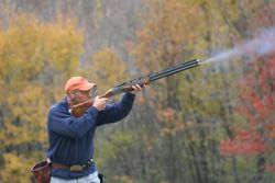 Nice fall day for skeet shooting