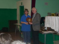 Debbie Chard recieving the George Saunders Intersections Cup