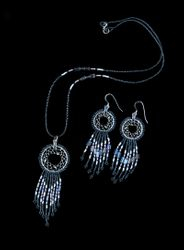 Dreamcatcher Necklace with matching earrings - Necklace