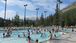 Pools at Miette Hot Springs, Jasper