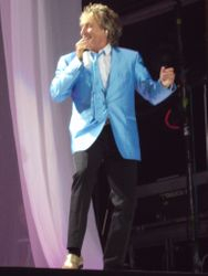 Rod Stewart in Sky Blue jacket