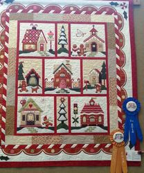 Best Appliqued and 1st Place - Professionally Quilted