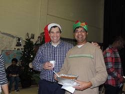 Present Conquest Club President with Past President Marvin Duarte