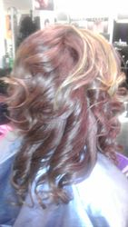 Invisible part, quick weave with curls