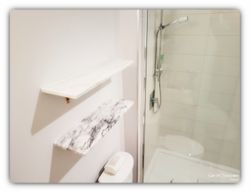 Marble shelving installation
