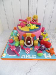 Fall Guys Birthday Cake