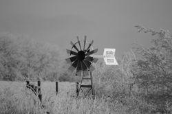 The old windmill B-W