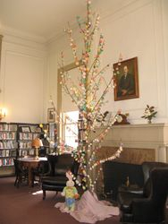 Girl Scouts put up an Easter Egg Tree